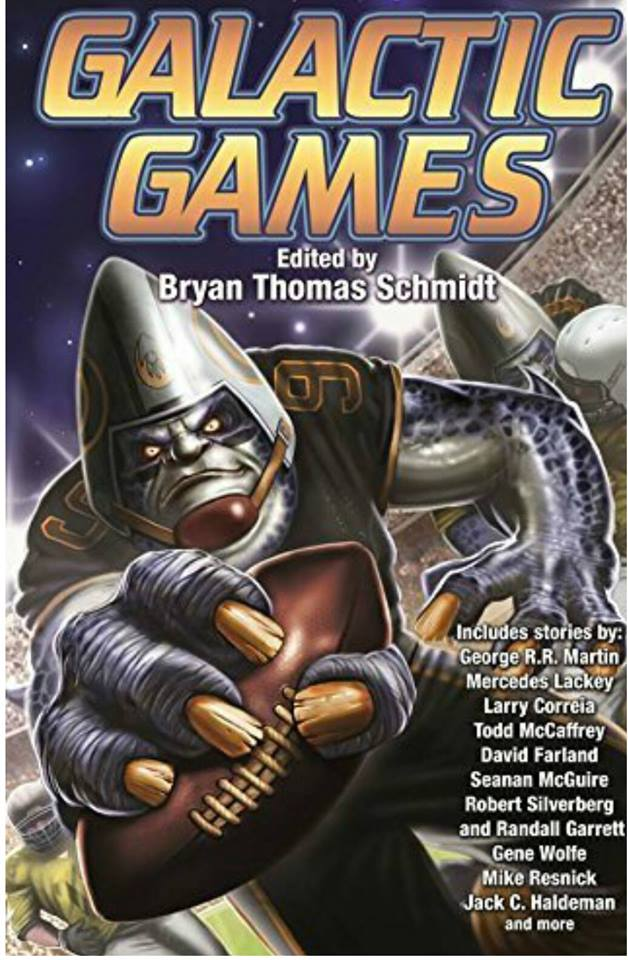 Galactic Games edited by Bryan Thomas Schmidt - front cover from Baen Books