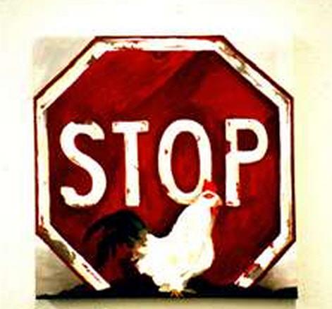 Stop Chicken Crossing