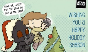 Star Wars happy holidays