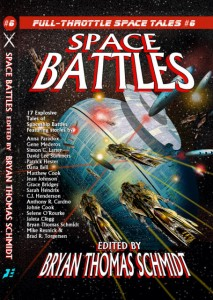 Space Battles edited by Bryan Thomas Schmidt - front cover