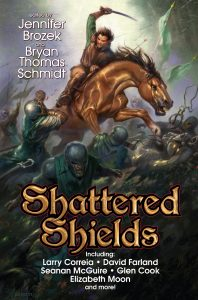 Cover of Shattered Shields, edited by Jennifer Brozek and Bryan Thomas Schmidt