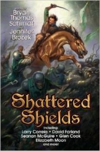 Shattered Shields edited by Jennifer Brozek and Bryan Thomas Schmidt - front cover from Baen Books